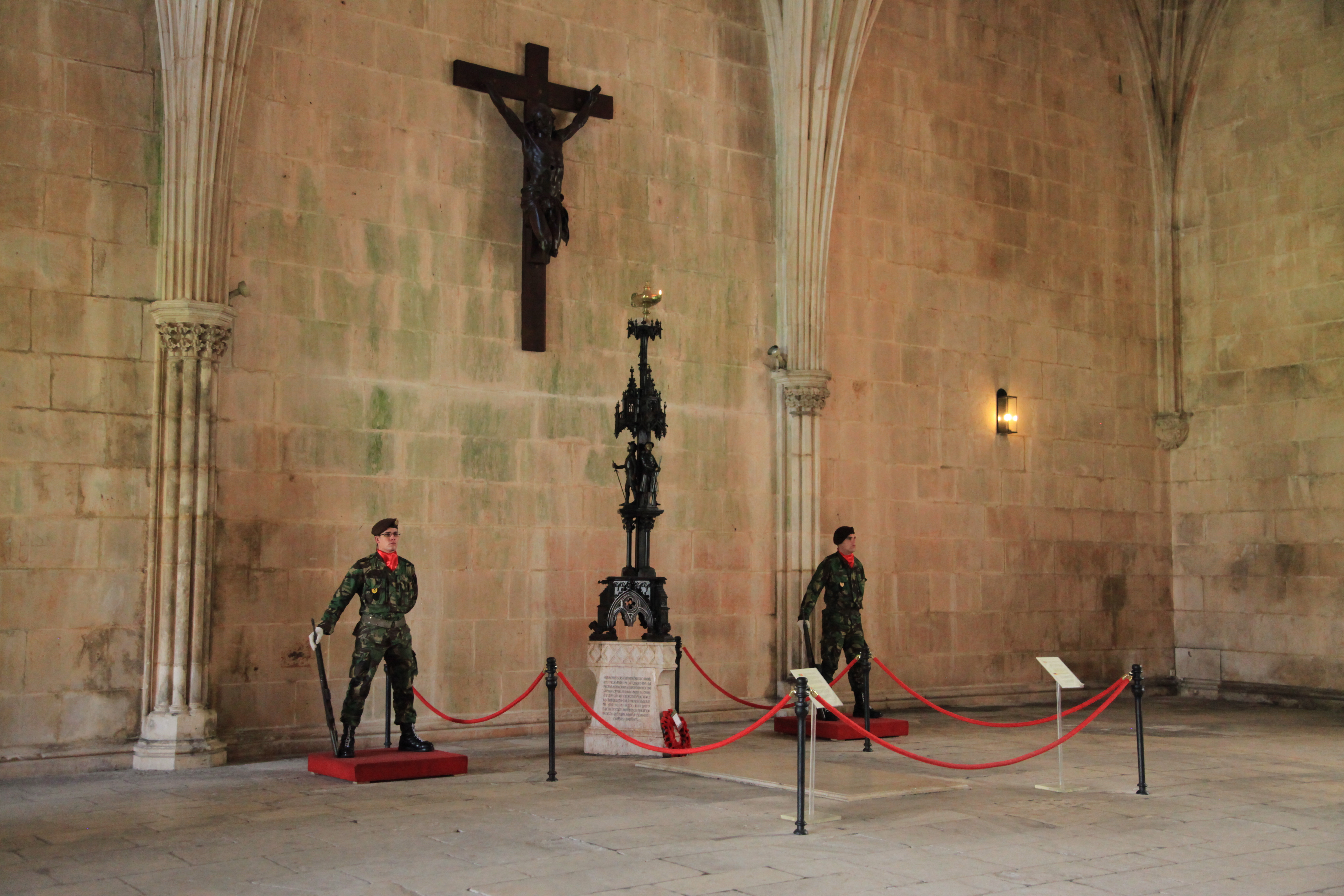 Soldiers in Batalha Monastery