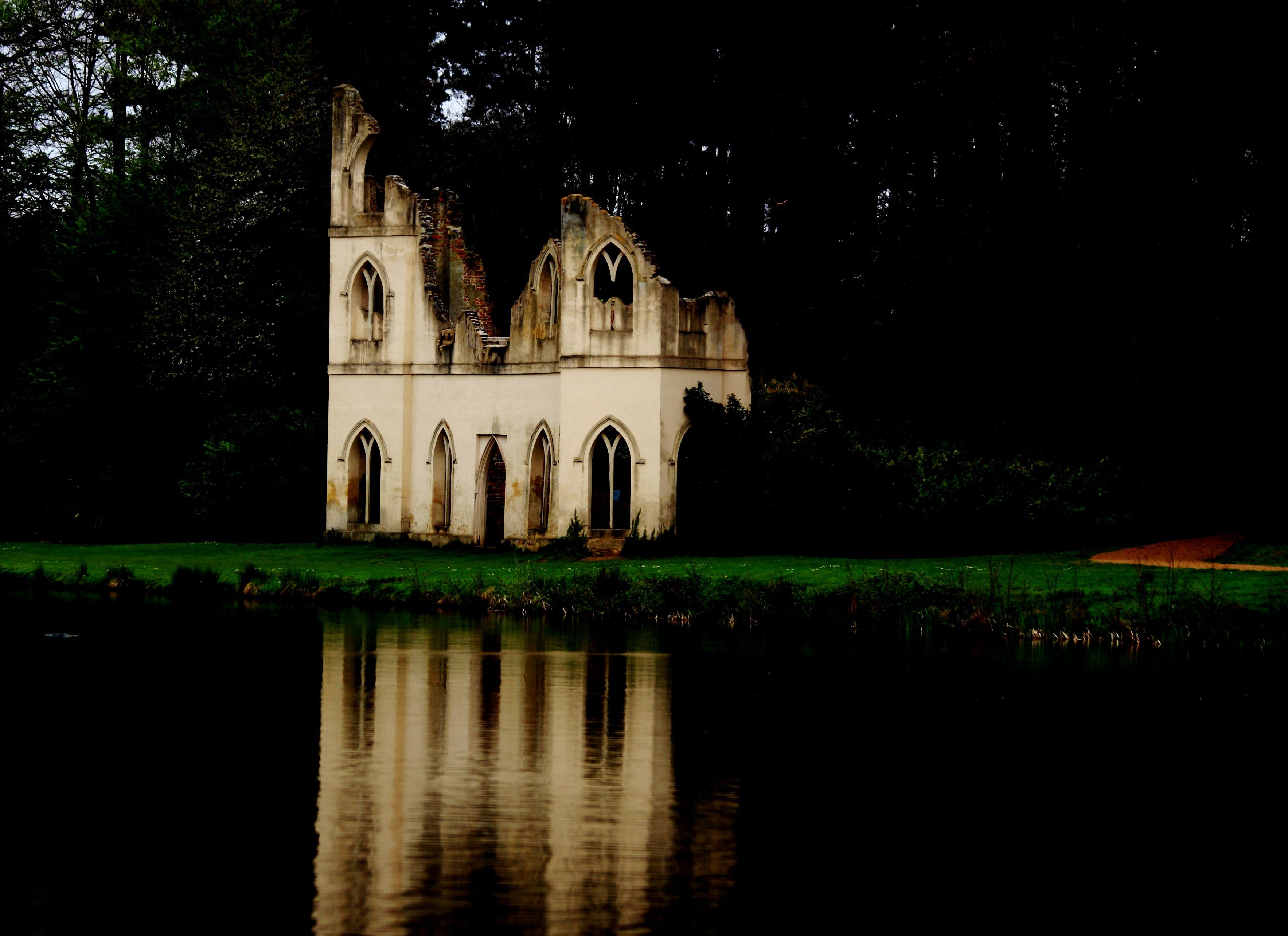 Ruinded Abbey At Night copy