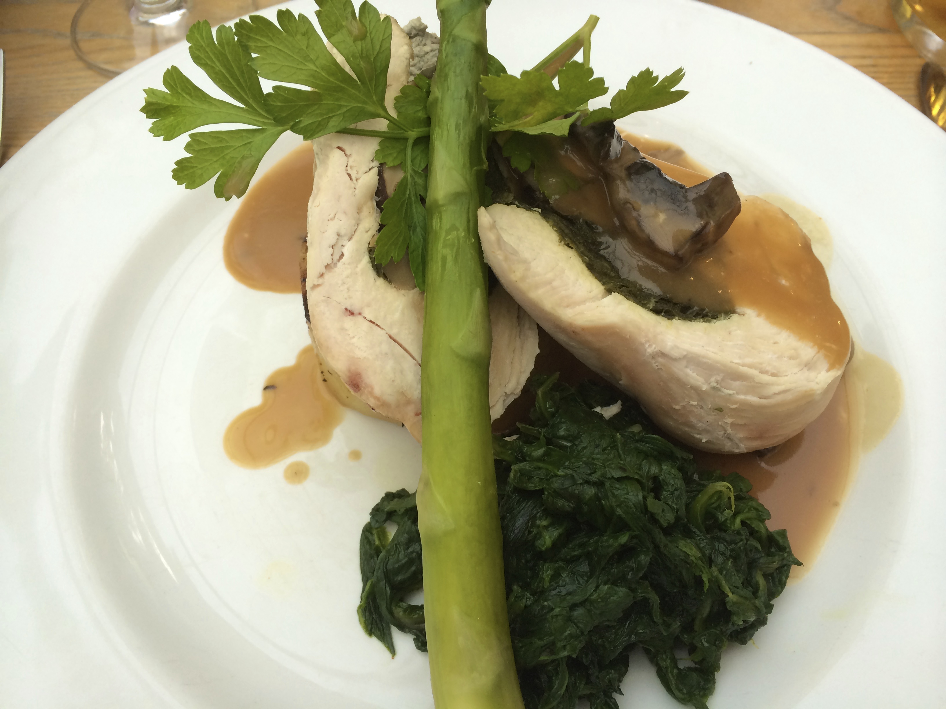 Chicken and Asparagus. Copyright Chris Bushe