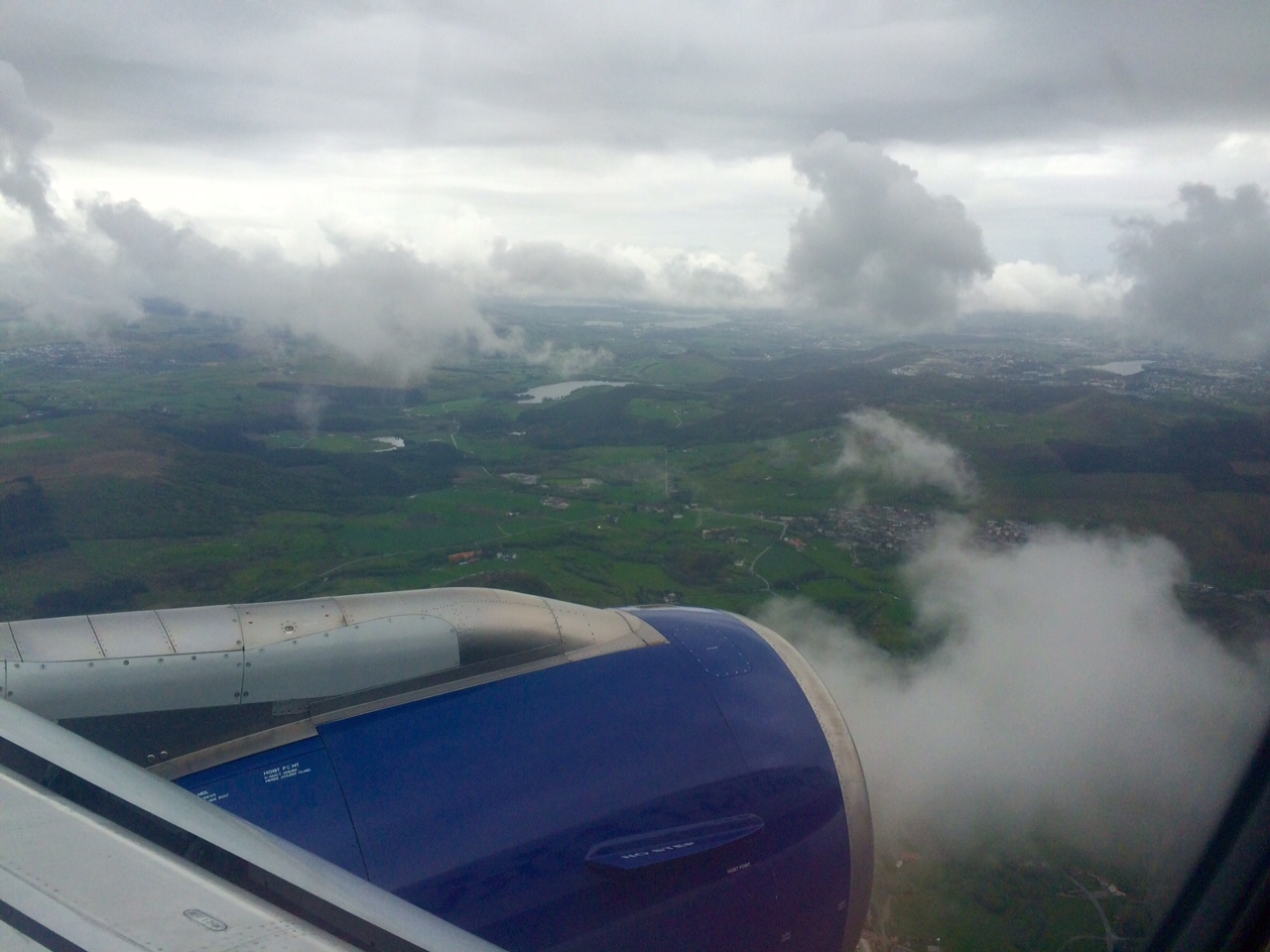 Clouds approaching Stavanger Airport