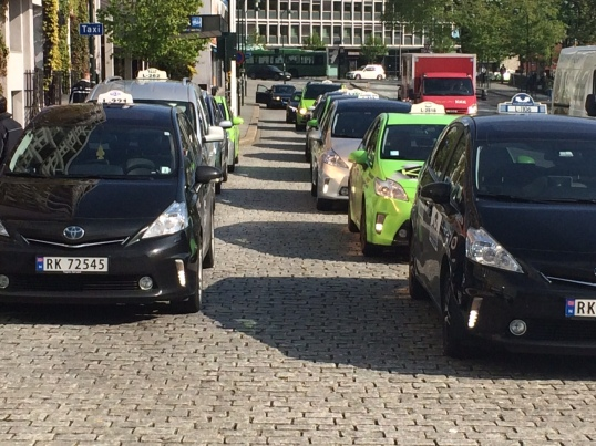 Many taxis like a start of the Grand Prix