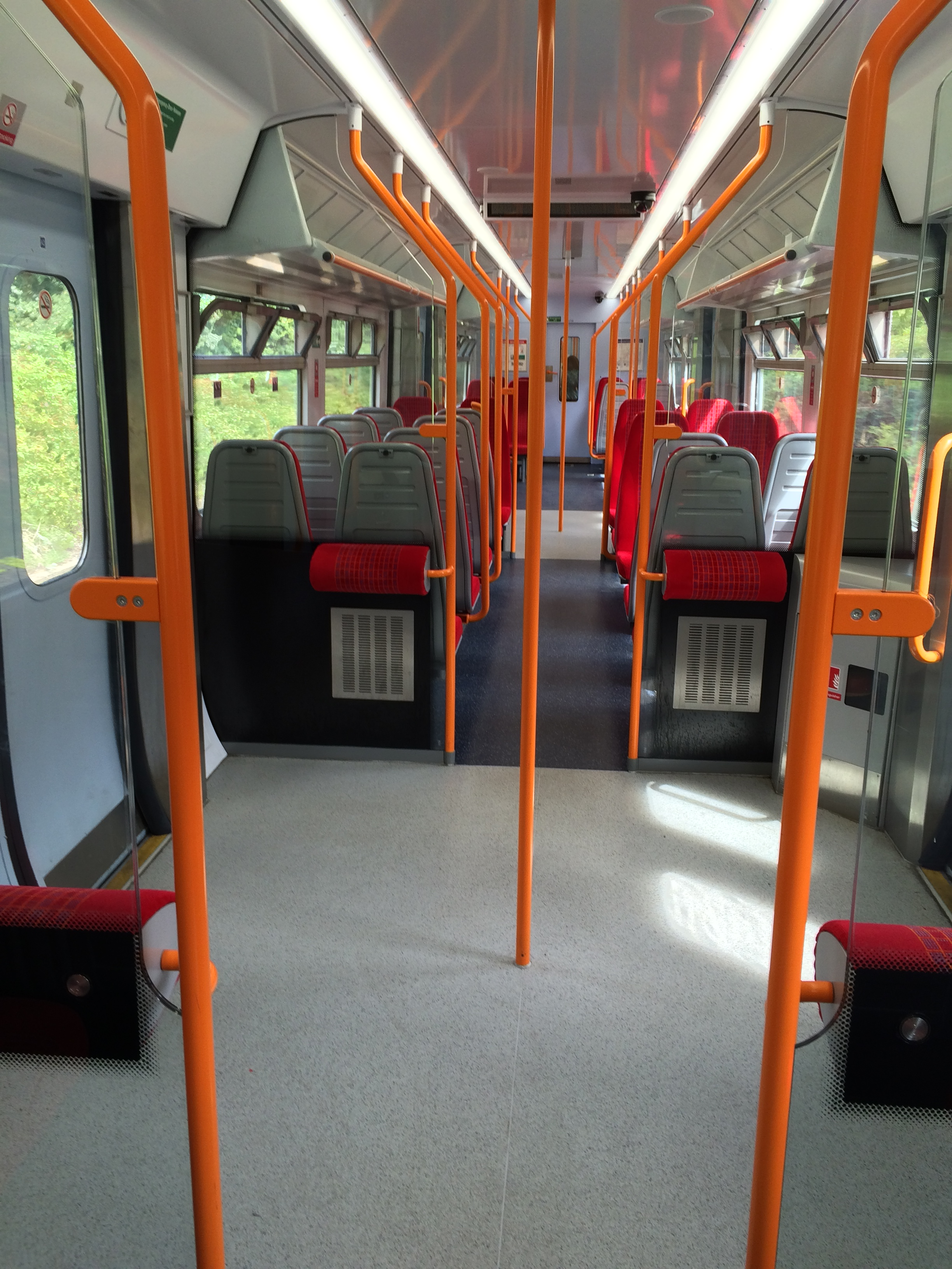Empty South west Trains service