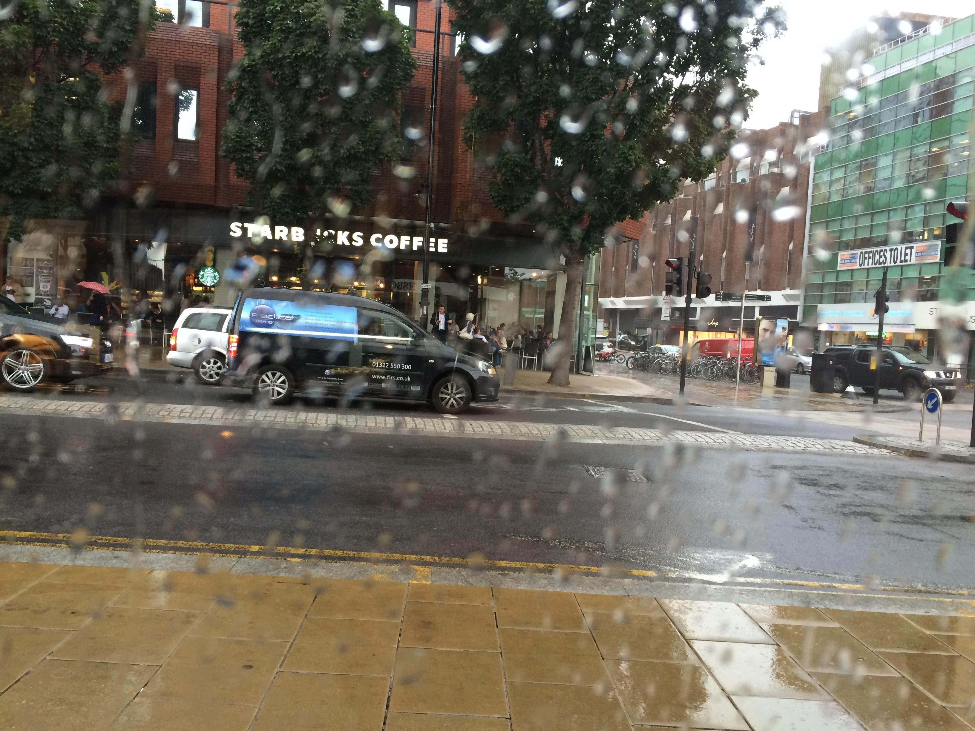 Rain in wimbledon