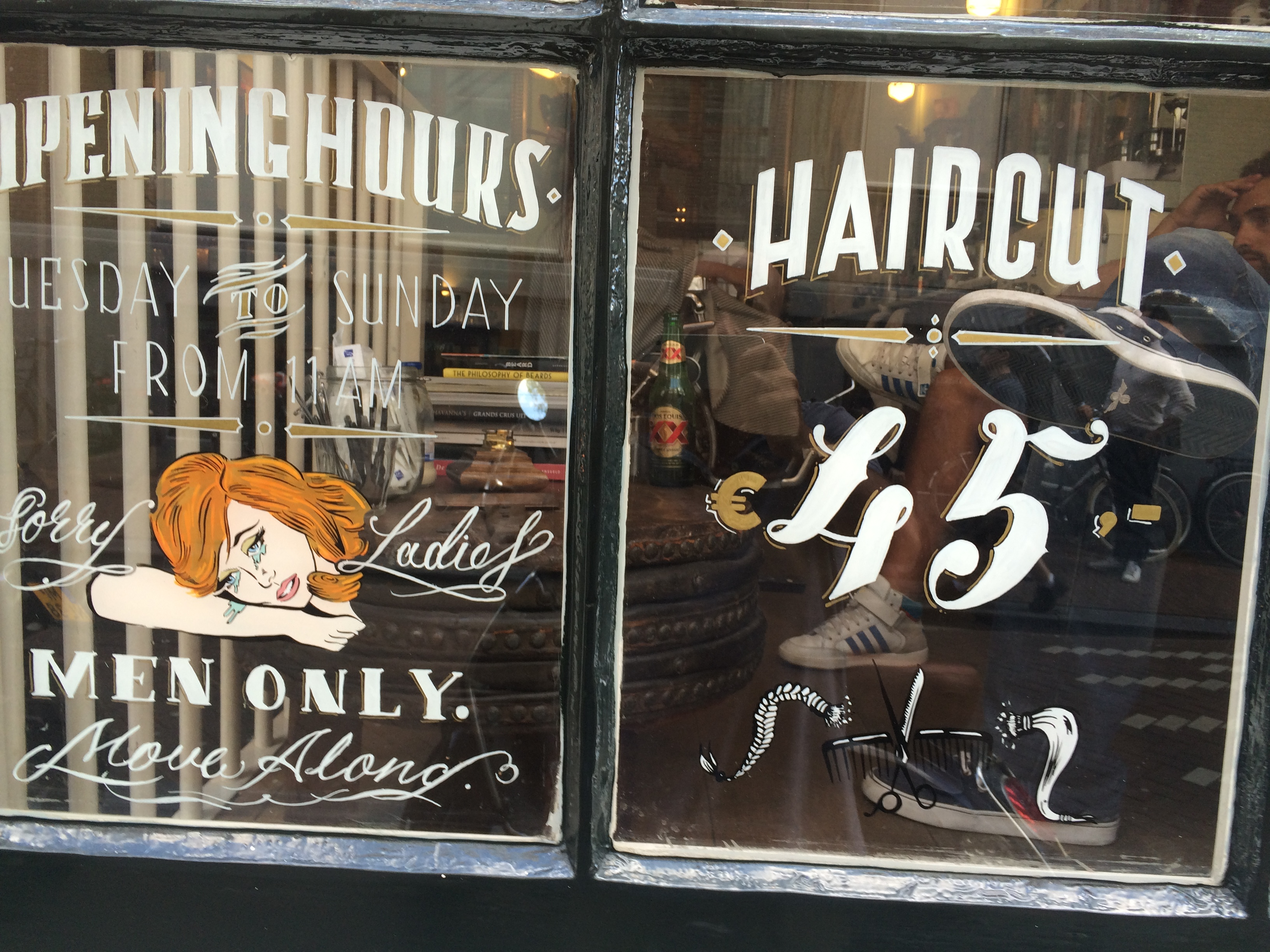 Expensive haircut. 45 euros in amsterdam.