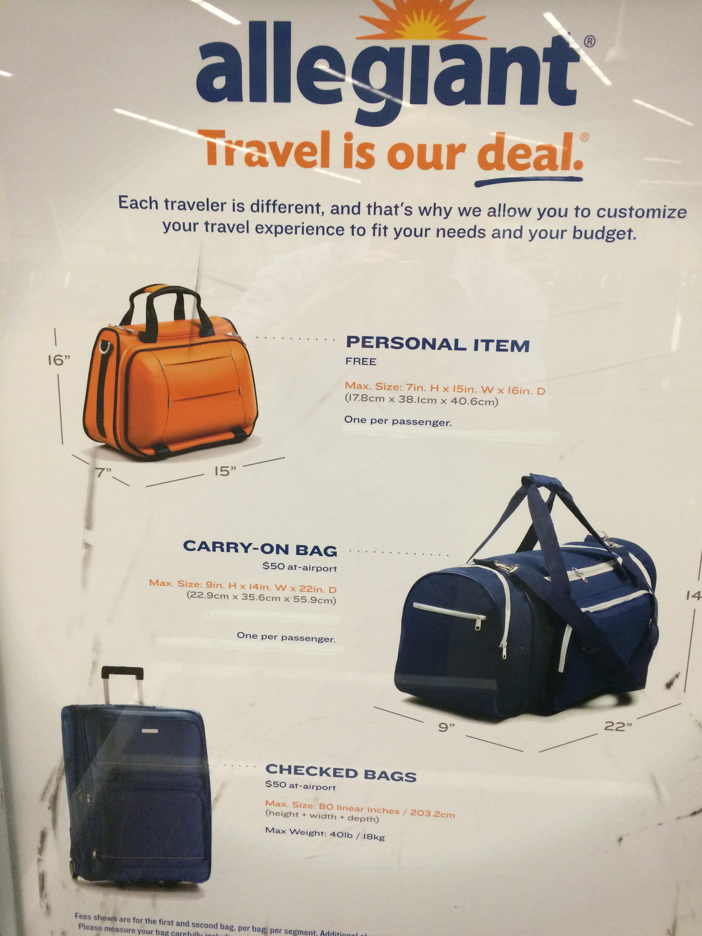 Allegiant Air Travel Carry On Restrictions