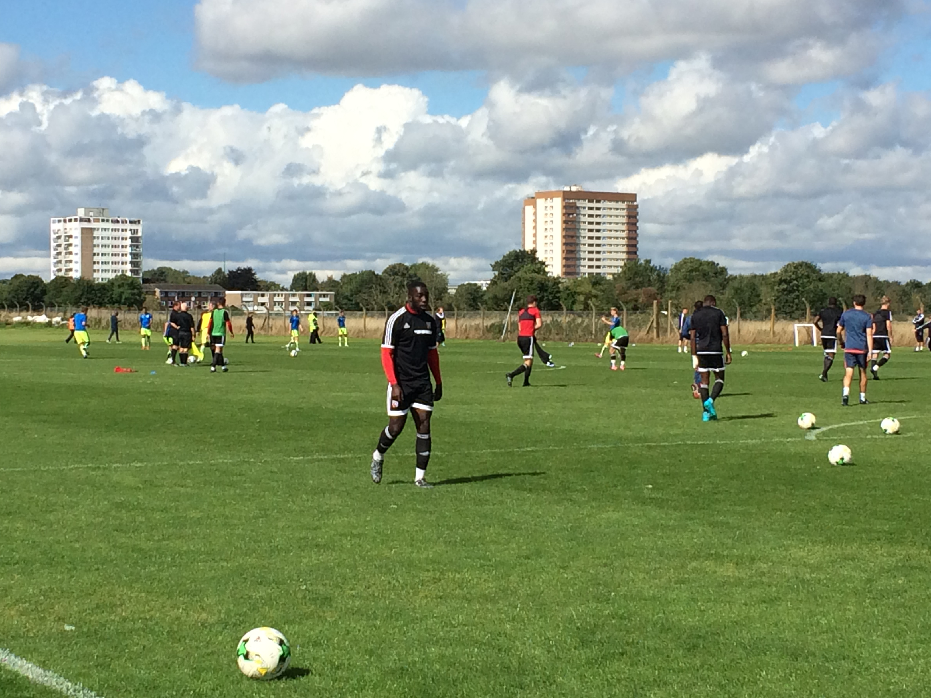 Watching youth team football at Brentford training ground
