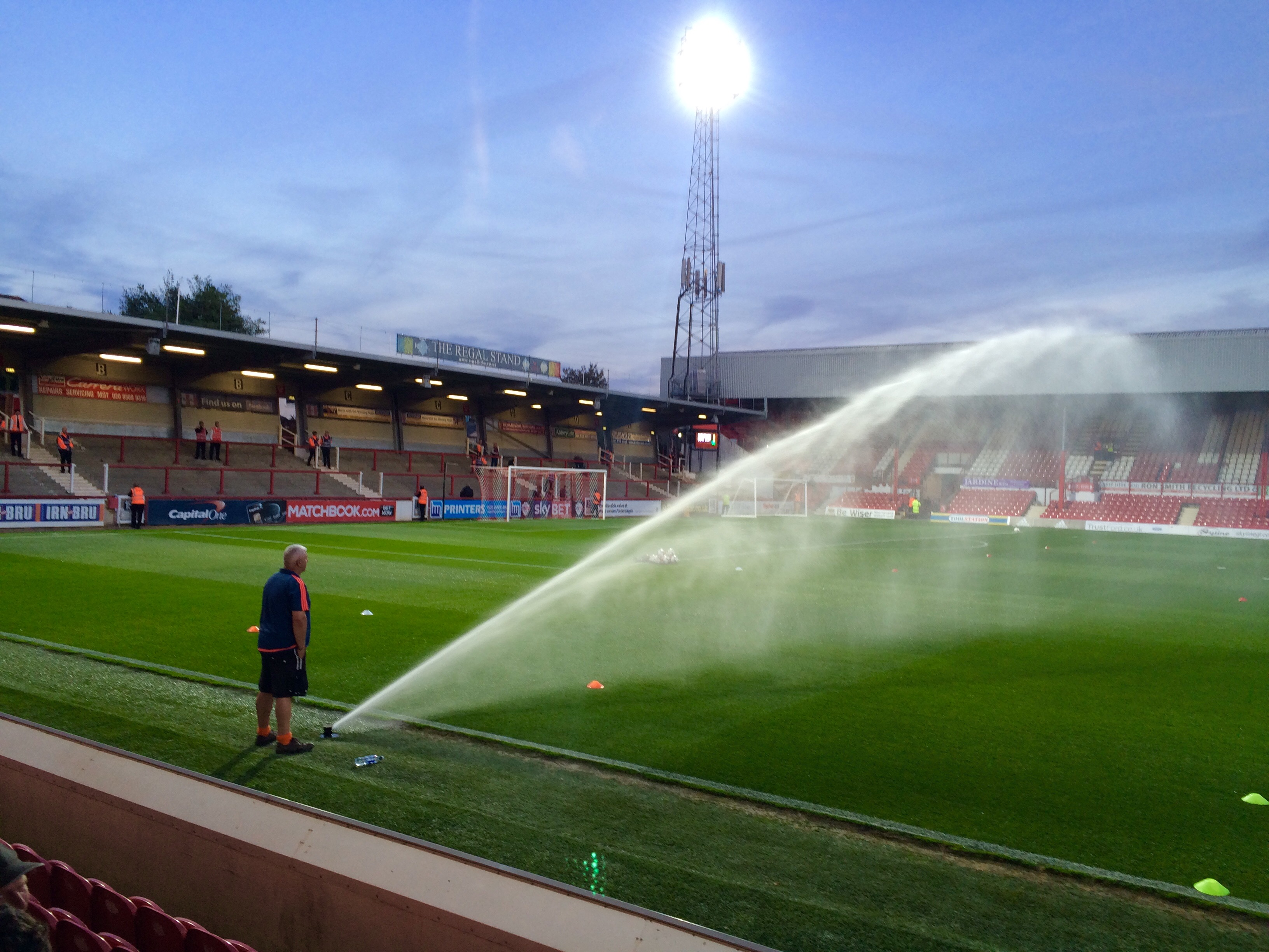 Putting out the fires at Griffin Park?