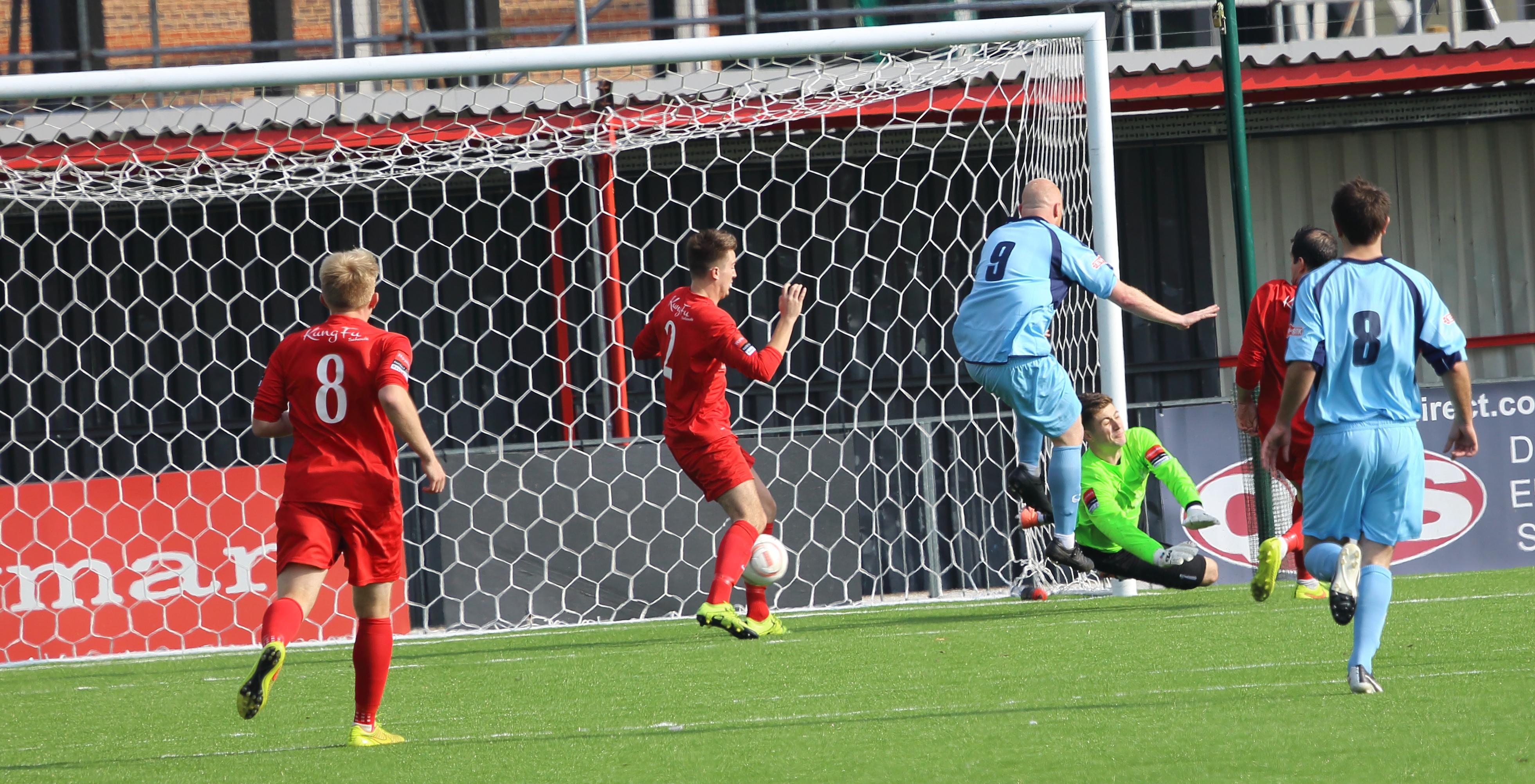 An unfortunate own goal Carshalton v Leighton  by Bobby Price
