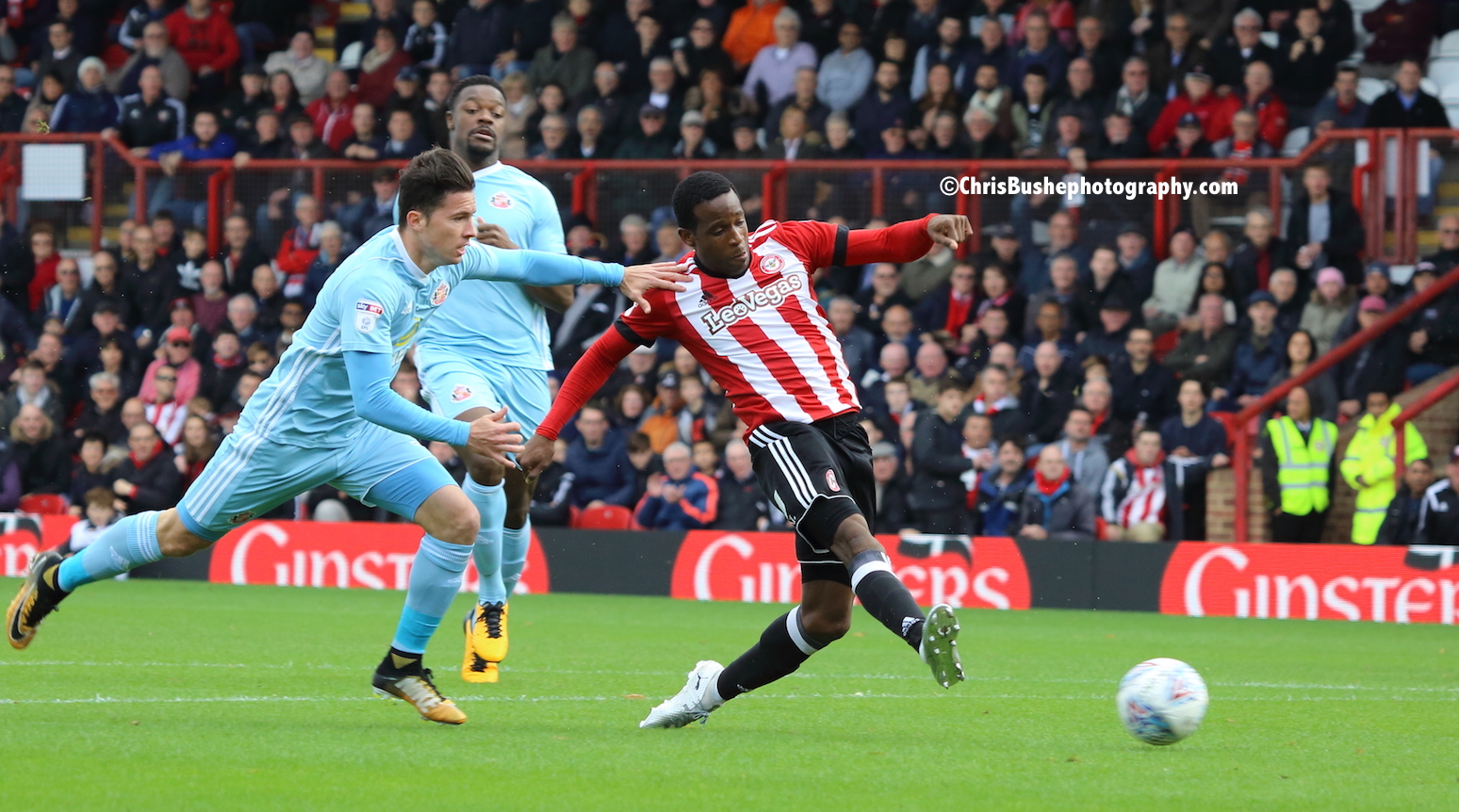 Florian Jozefzoon shoots to create the tap in for Yennaris