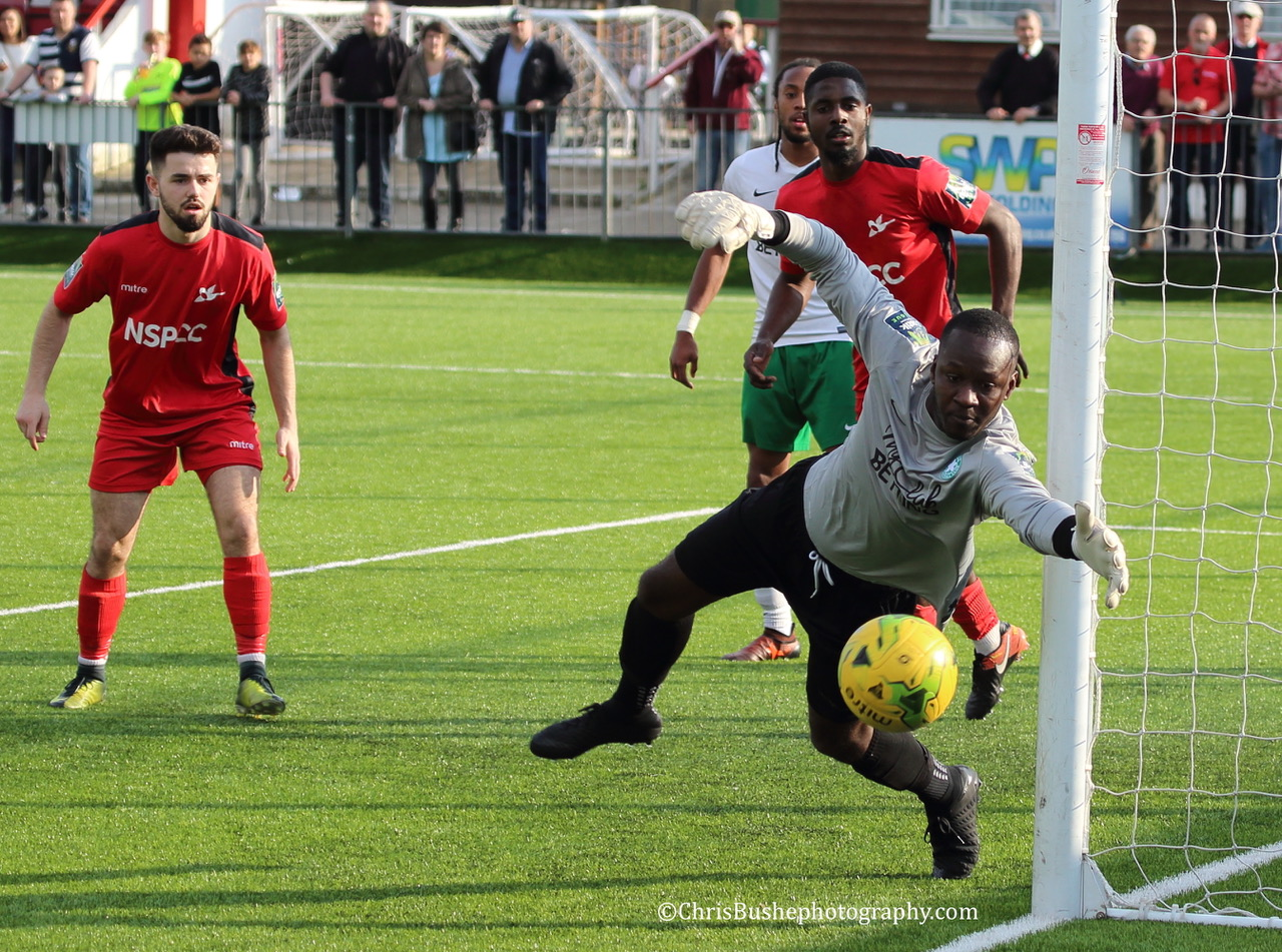 The Whyteleafe goal led a charmed life at times