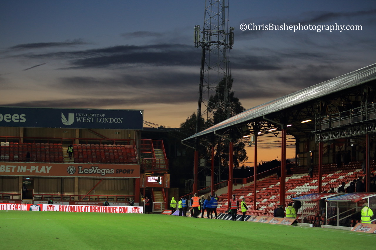 Griffin Park at sunset in November